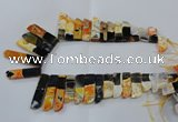 CTD1985 Top drilled 10*25mm - 12*50mm sticks agate gemstone beads