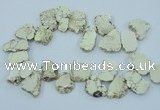 CTD2008 Top drilled 20*25mm - 30*35mm freeform turquoise beads