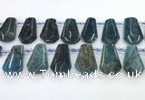 CTD2276 Top drilled 16*28mm - 20*30mm faceted freeform apatite beads