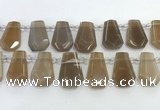 CTD2363 Top drilled 16*18mm - 20*30mm faceted freeform moonstone beads