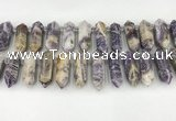 CTD2395 Top drilled 13*30mm - 14*42mm sticks charoite beads