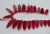 CTD2512 Top drilled 15*25mm - 16*50mm sticks agate gemstone beads