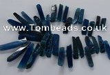 CTD2536 Top drilled 8*30mm - 11*50mm sticks agate gemstone beads