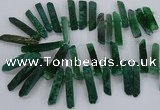 CTD2538 Top drilled 8*30mm - 11*50mm sticks agate gemstone beads
