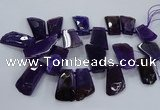 CTD2557 Top drilled 20*35mm - 30*45mm freeform agate gemstone beads