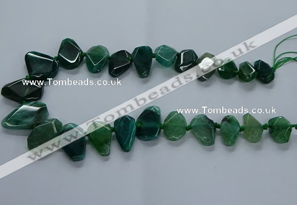 CTD2598 Top drilled 15*20mm - 25*35mm faceted freeform agate beads