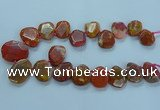 CTD2640 Top drilled 20*25mm - 30*40mm faceted freeform agate beads