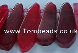 CTD2702 15.5 inches 10*25mm - 18*50mm freeform agate beads