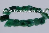 CTD2759 Top drilled 25*30mm - 35*45mm freeform agate beads