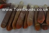 CTD2768 Top drilled 6*30mm - 8*35mm sticks sea urchin shell beads