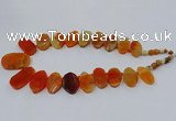 CTD2781 Top drilled 15*25mm - 25*40mm oval agate gemstone beads