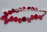 CTD2783 Top drilled 15*25mm - 25*40mm oval agate gemstone beads