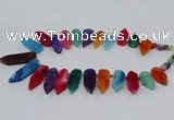 CTD2816 Top drilled 15*30mm - 15*45mm sticks agate gemstone beads