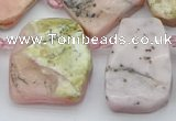 CTD339 Top drilled 15*20mm - 25*30mm freeform pink opal beads