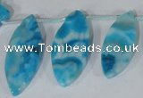 CTD35 Top drilled 10*24mm – 17*40mm marquise crazy lace agate beads