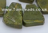 CTD3538 Top drilled 15*20mm - 25*30mm freeform ocean jasper beads