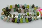CTD3700 Top drilled 10*15mm - 15*25mm faceted nuggets mixed gemstone beads
