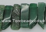 CTD387 Top drilled 10*20mm - 12*50mm wand green aventurine beads