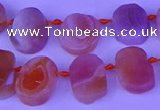 CTD3893 Top drilled 12*16mm - 13*18mm freeform red Botswana agate beads