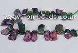 CTD4011 Top drilled 18*25mm - 25*35mm freeform agate beads
