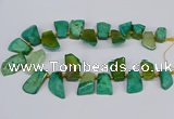 CTD4016 Top drilled 18*25mm - 25*35mm freeform agate beads