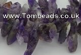 CTD424 Top drilled 4*8mm - 6*15mm nuggets amethyst beads