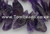 CTD426 Top drilled 6*15mm - 8*25mm nuggets amethyst beads