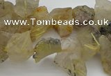 CTD428 Top drilled 8*12mm - 13*18mm nuggets golden rutilated quartz beads