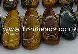 CTD474 15.5 inches 12*25mm - 15*45mm freeform yellow tiger eye beads