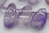 CTD481 Top drilled 10*22mm - 15*45mm freeform amethyst beads