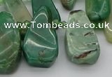 CTD493 Top drilled 10*22mm - 15*45mm freeform African jade beads