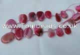 CTD500 Top drilled 20*30mm - 30*40mm freeform agate beads