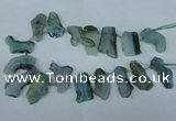 CTD515 Top drilled 15*25mm - 25*35mm freeform agate beads