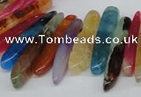 CTD590 Top drilled 6*20mm - 6*45mm wand agate gemstone beads