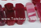 CTD592 Top drilled 12*30mm - 15*50mm wand agate gemstone beads