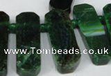 CTD593 Top drilled 12*30mm - 15*50mm wand agate gemstone beads