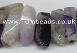 CTD602 Top drilled 10*18mm - 12*28mm nuggets agate gemstone beads
