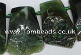 CTD660 Top drilled 25*40mm - 30*55mm freeform agate beads
