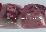 CTD663 Top drilled 25*30mm - 30*40mm freeform agate beads