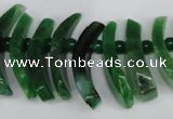 CTD713 Top drilled 12*25mm - 15*40mm wand agate gemstone beads