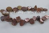 CTD788 Top drilled 15*20mm - 25*35mm freeform plated agate beads