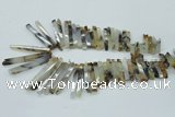 CTD830 15.5 inches 6*30mm - 7*65mm sticks montana agate beads
