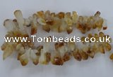 CTD840 Top drilled 10*20mm - 15*30mm nuggets citrine gemstone beads