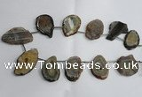 CTD962 Top drilled 22*35mm - 30*50mm freeform agate gemstone beads