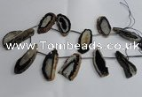 CTD963 Top drilled 15*35mm - 25*55mm freeform agate gemstone beads