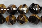 CTE1205 15 inches 16mm faceted nuggets yellow tiger eye beads