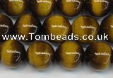 CTE1227 15.5 inches 8mm round A grade yellow tiger eye beads
