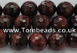 CTE1463 15.5 inches 10mm faceted round red tiger eye beads