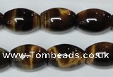 CTE162 15.5 inches 10*30mm rice yellow tiger eye gemstone beads