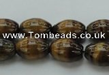 CTE1700 15.5 inches 10*14mm rice yellow tiger eye beads